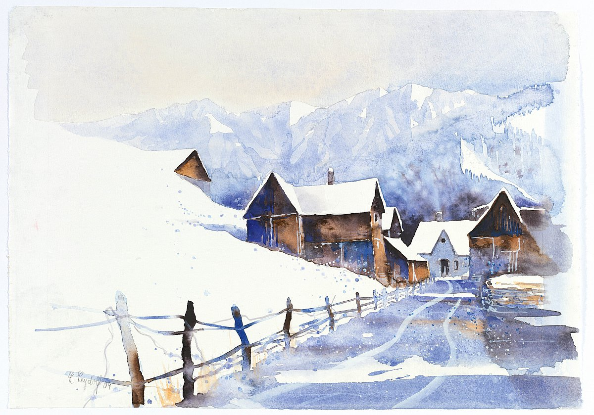 Акварелі зими