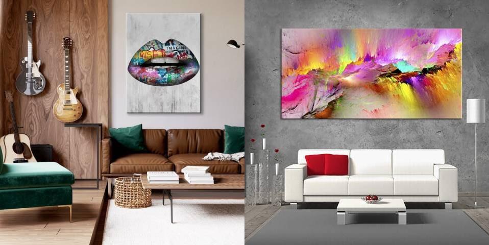 Картини в інтер'єрі - ідеальний декор стін дому