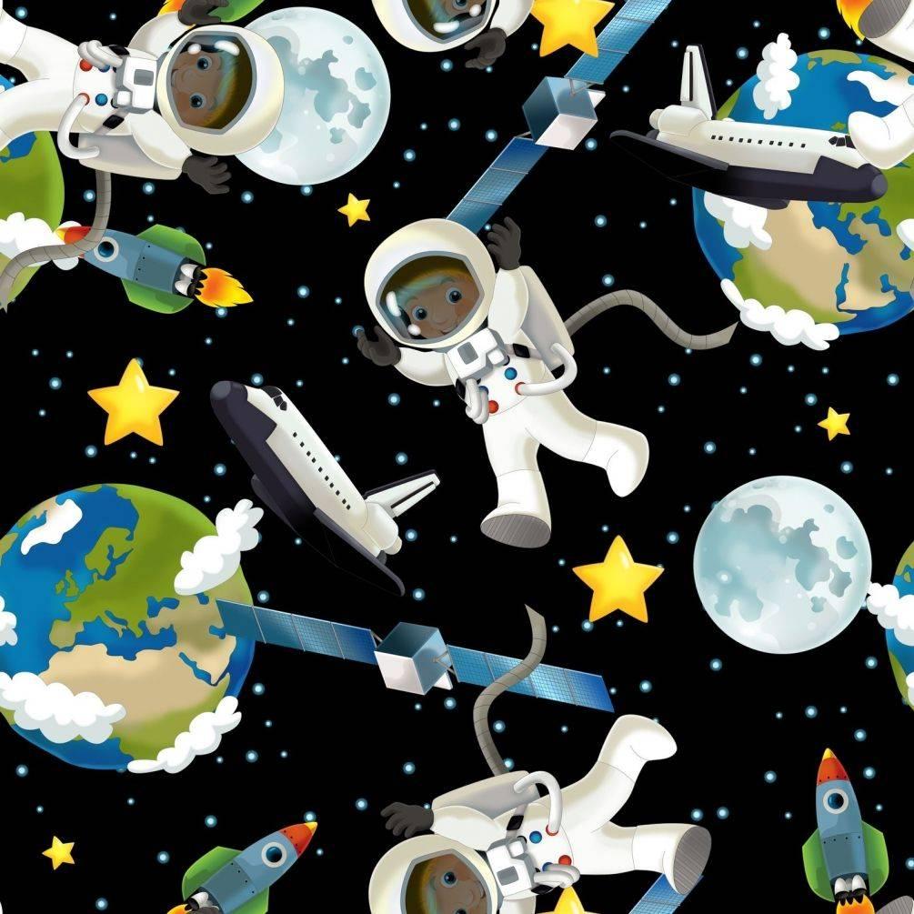 Мультяшні космонавти користуються особливою популярністю при оформленні дитячих кімнат